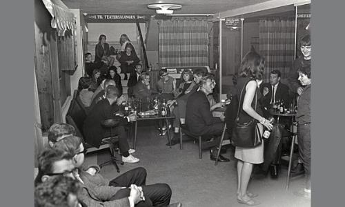 Club 7 åpnet i Edderkoppens lokaler, juli 1965