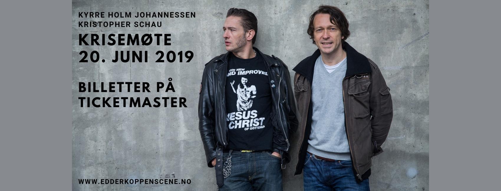 Krisemøte-Edderkoppen-Scene-Kyrre-Holm-Johannessen-Kristopher-Schau